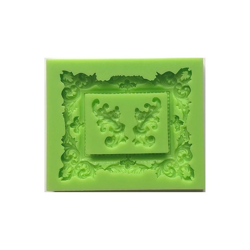 Forma silikonowa 3D - ramka i ornamenty