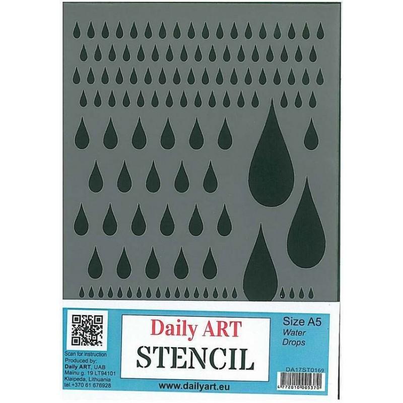 Szablon Daily ART Water Drops - do decoupage i scrapbookingu