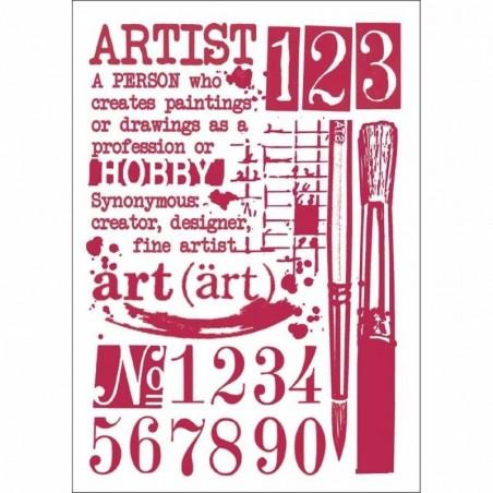 Szablon 21x30 cm [KSG423], Artist