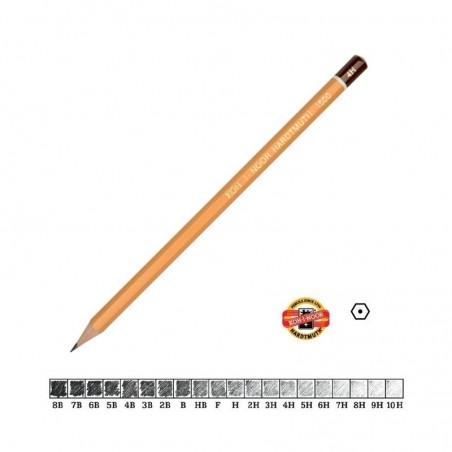 Ołówek rysunkowy Koh-i-noor Hardtmuth 1500, twardość 6B