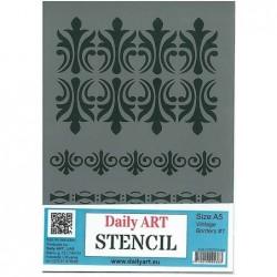 Szablon Daily ART bordy antyczne - do decoupage i scrapbookingu