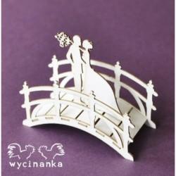 Tekturki Wycinanka, W dniu ślubu - mostek 3D z parą młodą