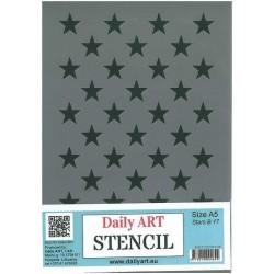 Szablon Daily ART Stars B17 - gwiazdki - do decoupage i scrapbookingu
