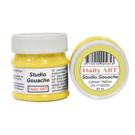 Gwasz Studio Gouache Daily ART, Lemon Yellow, 50 ml