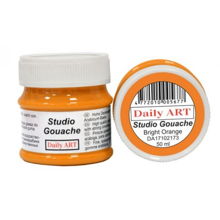 Gwasz Studio Gouache Daily ART, Bright Orange, 50 ml
