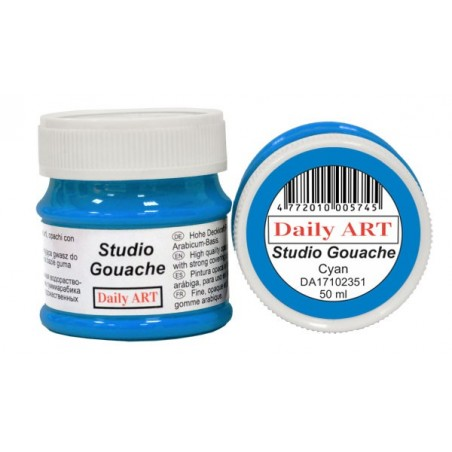 Gwasz Studio Gouache Daily ART, Cyan, 50 ml