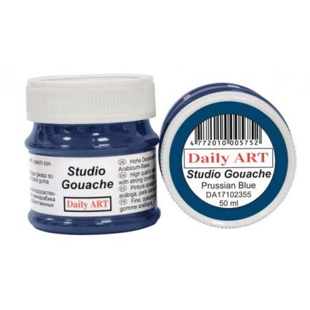 Gwasz Studio Gouache Daily ART, Prussian Blue - błękit pruski, 50 ml