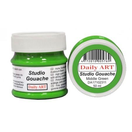 Gwasz Studio Gouache Daily ART, Middle Green - jasny zielony, 50 ml