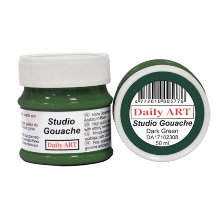 Gwasz Studio Gouache Daily ART, Dark Green, 50 ml