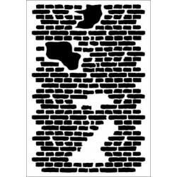 Szablon Daily ART Shabby Brick Wall - do decoupage i scrapbookingu