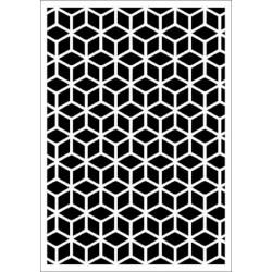 Szablon Daily ART Rhombus Grid - do decoupage i scrapbookingu