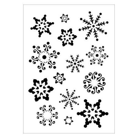 Szablon Daily ART Śnieżynki - do decoupage i scrapbookingu