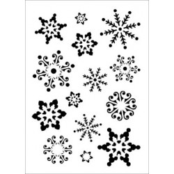 Szablon Daily ART A4 Snowflakes - do decoupage i scrapbookingu