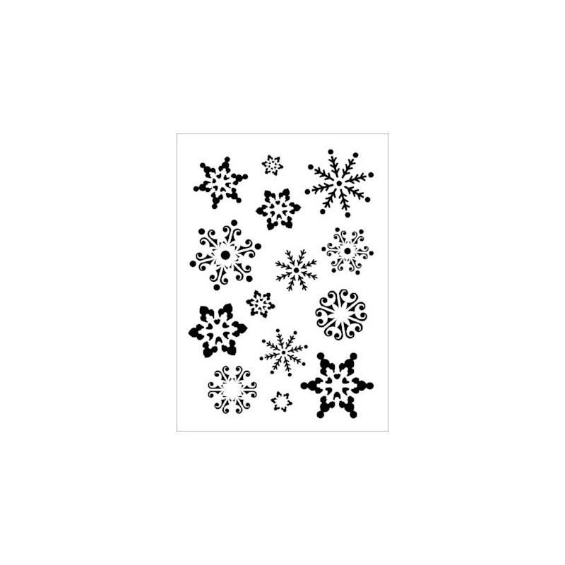 Szablon Daily ART A4 Snowflakes - do decoupage i scrapbookingu