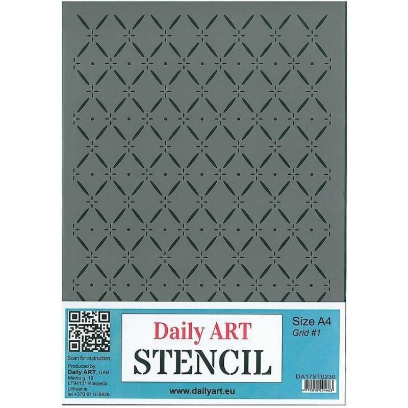 Szablon Daily ART A4 Grid 1 - do decoupage i scrapbookingu