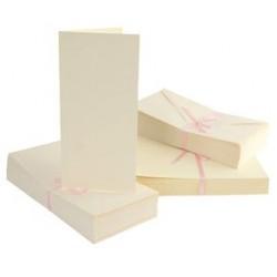 Bazy do kartek DL kremowe zestaw z kopertami