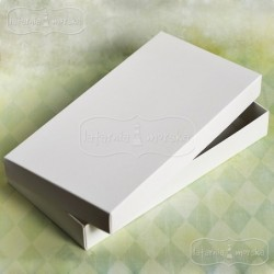 Pudełko pełne białe na kartkę DL