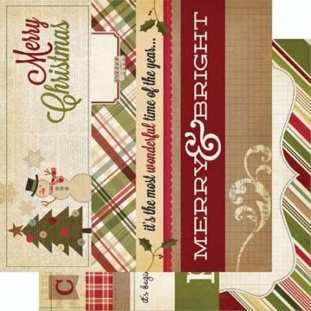 Papier do scrapbookingu, Handmade Holiday: Title Strips [Simple Stories 2714]