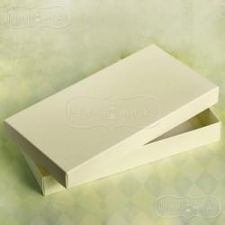 Pudełko pełne kremowe na kartkę podłużną DL 22x11