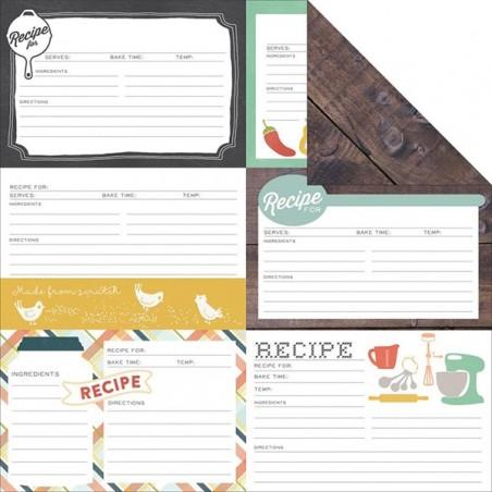 Papier do scrapbookingu, Made From Scratch: Recipe Cards [Echo Park]