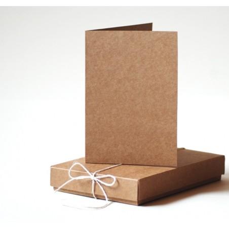 Pudełko na kartki w formacie A6, karton kraft