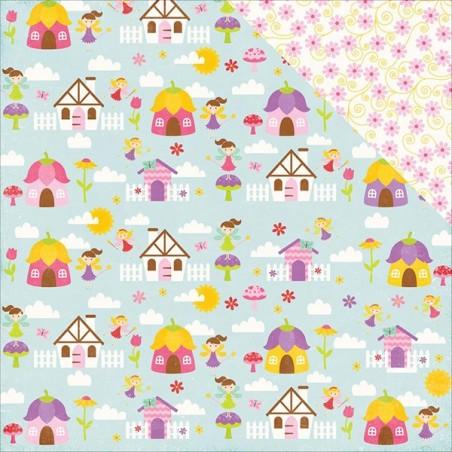 Papier do scrapbookingu, Perfect Princess: Fairy Village [PP130010] [Echo Park]