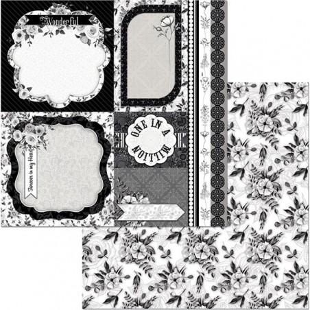 Papier do scrapbookingu 12x12, Black Tie Affair, Romance [Bo Bunny]