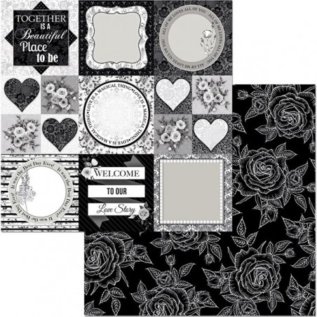Papier do scrapbookingu 12x12, Black Tie Affair, Formal [Bo Bunny]
