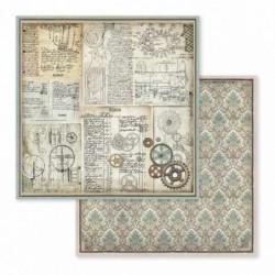 Papier do scrapbookingu Stamperia 30x30 cm, Voyages Fantastiques - trybiki