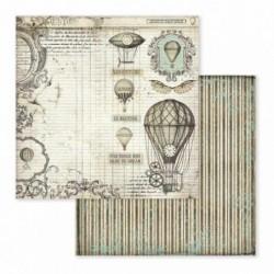 Papier do scrapbookingu Stamperia 30x30 cm, Voyages Fantastiques - balony