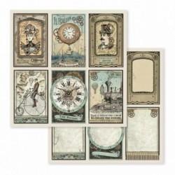 Papier do scrapbookingu Stamperia 12x12, Voyages - tagi SBB601
