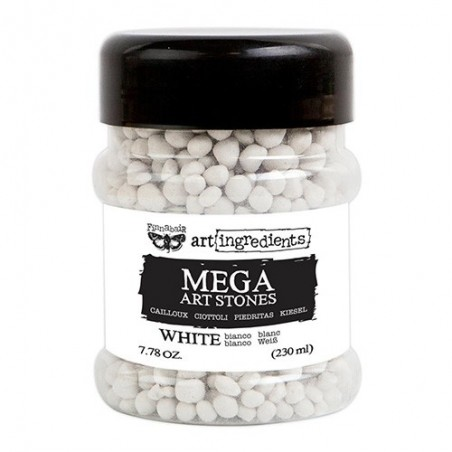 Kulki 3D, Finnabair Art Ingredients Mega Art Stones White, 230 ml [964672]
