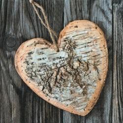 Serwetka - Serce z brzozy