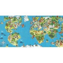 Serwetka - Dziecięca mapa świata