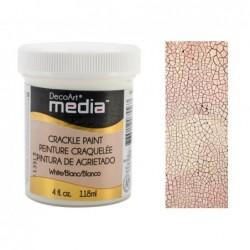 Biała farba pękająca DecoArt DMM15 do mixed media
