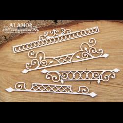Zestaw elementów tekturowych, Alamor - Małe bordery 01 4935 [Scrapiniec]