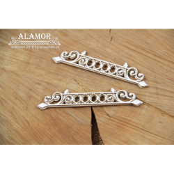 Zestaw elementów tekturowych, Alamor - 2-warstwowe bordery 4940 [Scrapiniec]