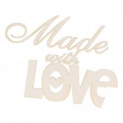 """Napis z tekturki """"Made with love"""""""