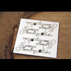 Zestaw elementów tekturowych, Napis - Z okazji rocznicy ślubu [Scrapiniec]