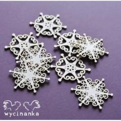 CHRISTMAS JOY - płatki śniegu wz. 3 małe [Wycinanka]