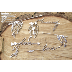 Zestaw elementów tekturowych, Boho Love- duże strzałki 5149 [Scrapiniec]