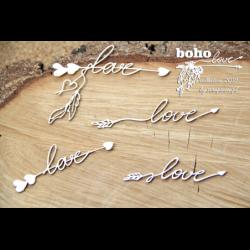 Zestaw elementów tekturowych, Boho Love- małe strzałki 01 5140 [Scrapiniec]