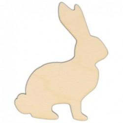 Ozdoba ze sklejki, drewniany królik AD09