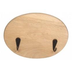 Wieszak drewniany owalny (do samodzielnego montażu) [MAK]