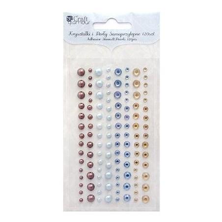 Kryształki i perły samoprzylepne, Azure & Spice, 120 szt. [GRKP-001]