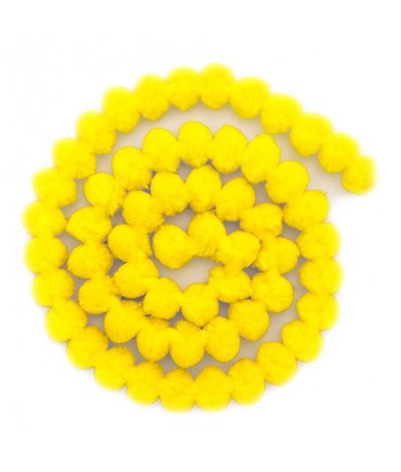 Girlanda z pomponów - żółta [KSPO-045]