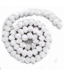 Girlanda z pomponów biała