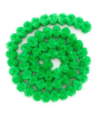 Girlanda z pomponów zielona