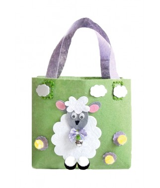 Zestaw kreatywny - torba z filcu z owcą