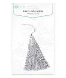 Chwost dekoracyjny 8 cm - srebrny [DPDC-010]